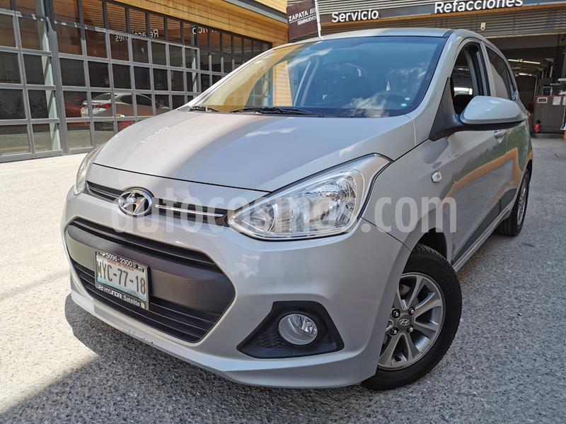 Hyundai Grand i10 GLS Aut usado (2017) color Plata precio $145,000