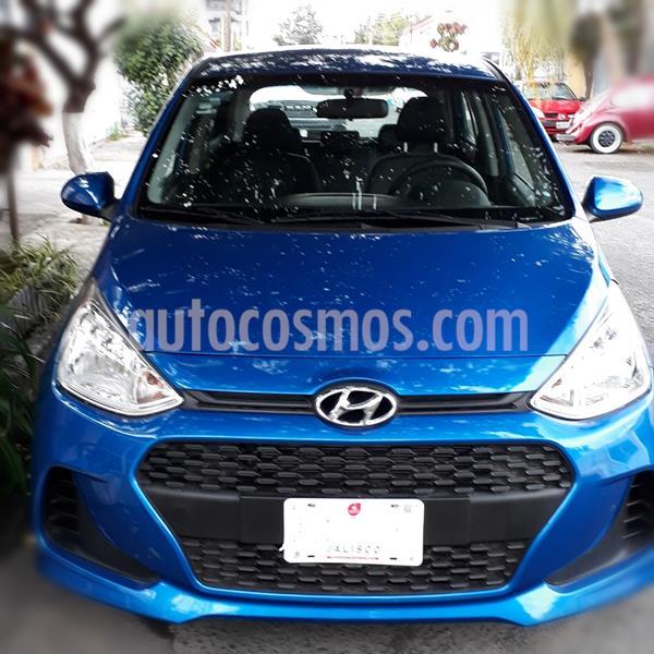 Hyundai Grand i10 GL MID Aut usado (2019) color Azul precio $195,000