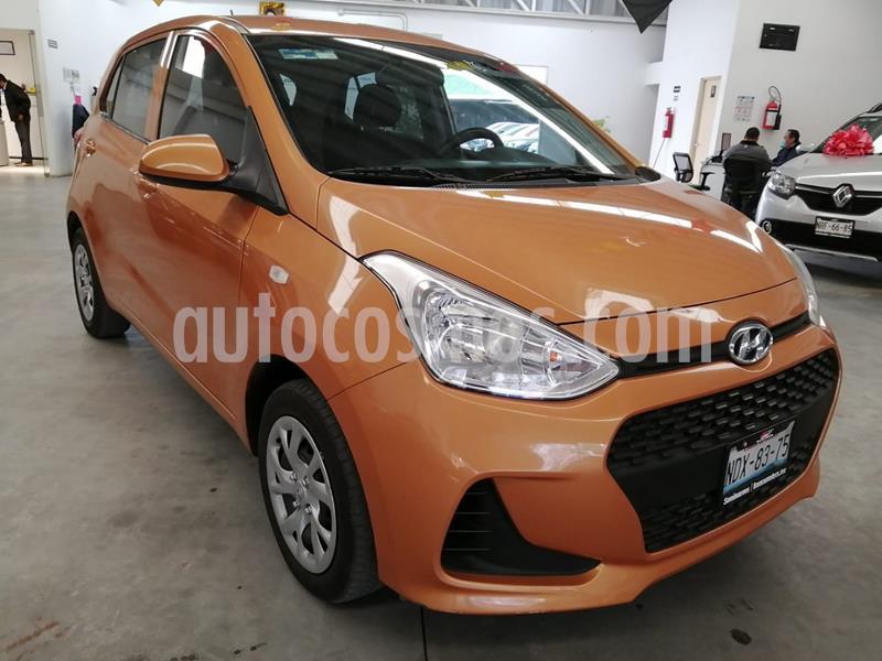 Hyundai Grand i10 GL MID usado (2018) color Naranja precio $159,000