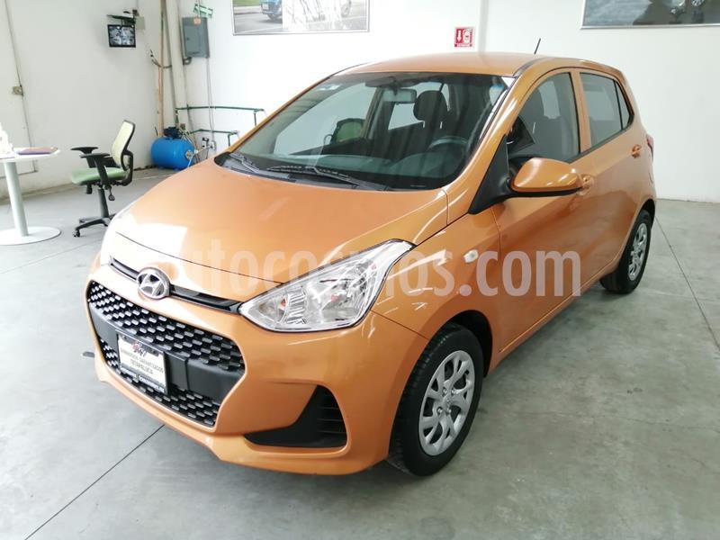 Hyundai Grand i10 GL MID usado (2018) color Naranja precio $160,000