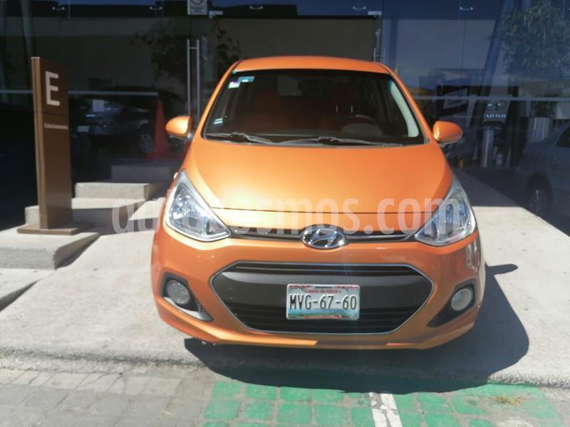 foto Hyundai Grand i10 GLS usado (2016) color Naranja precio $138,000