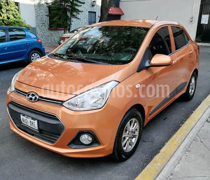 Hyundai Grand i10 GLS usado (2017) color Naranja precio $140,000