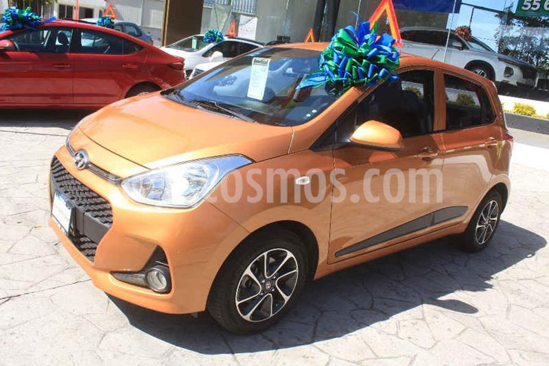 Hyundai Grand i10 Version usado (2018) color Naranja precio $185,000
