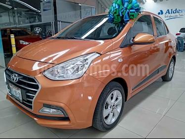 Hyundai Grand i10 4p GLS L4/1.2 Aut usado (2018) color Naranja precio $185,000
