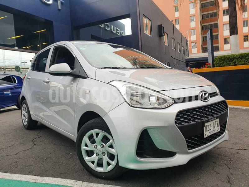 Hyundai Grand i10 GL MID Aut usado (2018) color Plata precio $164,900