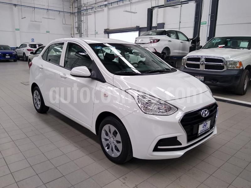 Hyundai i10 Sedan GL MID usado (2020) color Blanco precio $195,000
