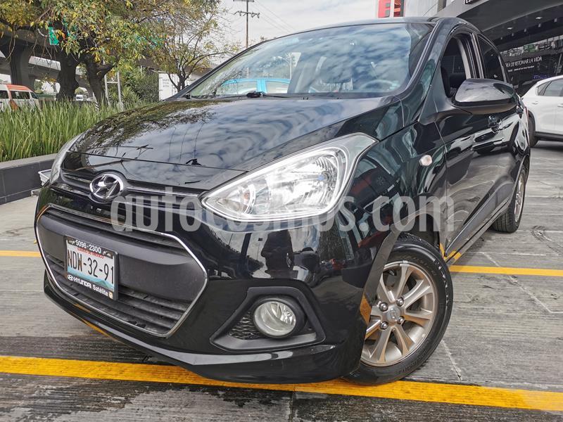 Hyundai i10 Sedan GLS usado (2017) color Negro precio $145,000