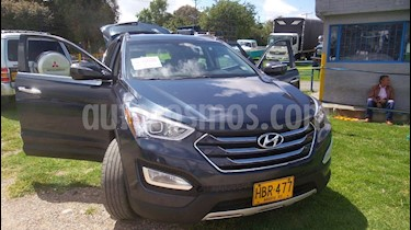 Hyundai Santa Fe 2.4 4x2 7 Pas. usado (2014) color Azul precio $55.000.000