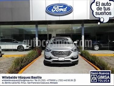 Hyundai Santa Fe Sport 2.0L Turbo usado (2018) color Plata precio $417,000