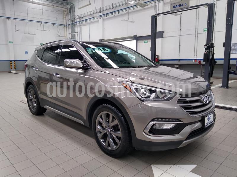 Hyundai Santa Fe 2.0L Turbo usado (2018) color Gris precio $415,000