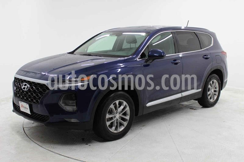 Hyundai Santa Fe 2.0L Turbo GLS usado (2019) color Azul precio $449,000