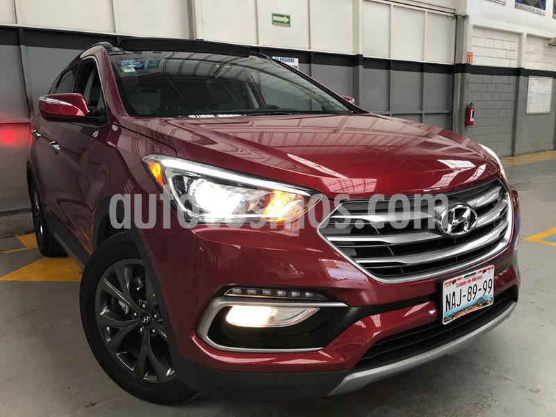 Hyundai Santa Fe Sport 2.0L usado (2017) color Rojo precio $399,000