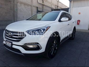 Hyundai Santa Fe Sport 2.0L usado (2017) color Blanco Perla precio $440,000