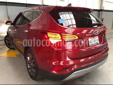 Hyundai Santa Fe 5P SPORT 2.0T TA PIEL QCP RA-19 usado (2017) color Rojo precio $399,000