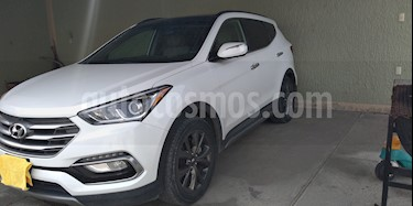 Hyundai Santa Fe Sport 2.0L usado (2017) color Blanco Perla precio $350,000