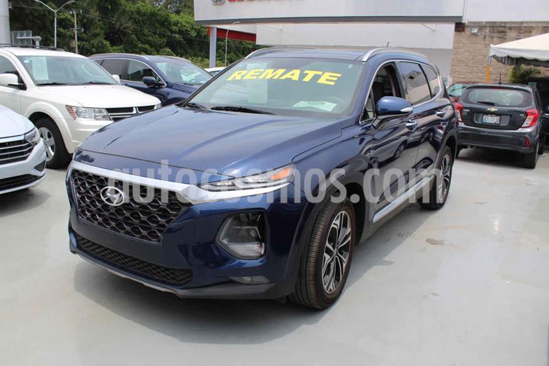Hyundai Santa Fe V6 Limited Tech usado (2019) color Azul precio $589,000