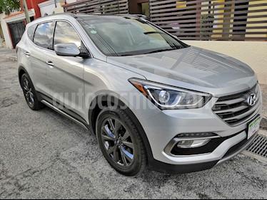 Hyundai Santa Fe Sport 2.0L Turbo usado (2018) color Plata precio $400,000