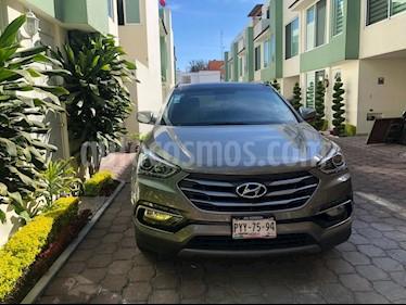 Hyundai Santa Fe Sport 2.0L Turbo usado (2017) color Gris Mineral precio $373,000