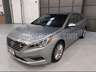 Hyundai Sonata 5p Premium L4/2.4 Aut usado (2015) color Gris precio $195,000