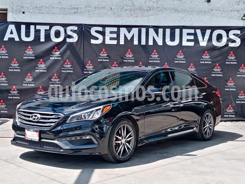 Hyundai Sonata Sport 2.0T usado (2016) color Negro precio $260,000
