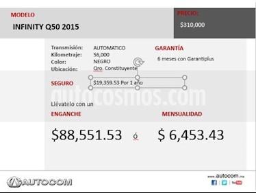 Foto venta Auto Seminuevo Infiniti Q50 Q50 (2015) color Negro precio $292,000