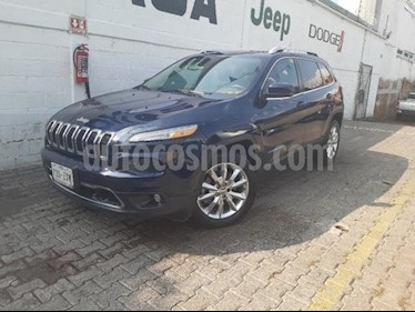 Foto Jeep Cherokee 5P LIMITED PREMIUM L4 2.4L TA PIEL QCP GPS BI-XENO usado (2014) color Azul Marino precio $270,000