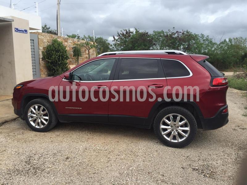 Jeep Cherokee Limited Premium usado (2014) color Rojo Cerezo precio $215,000