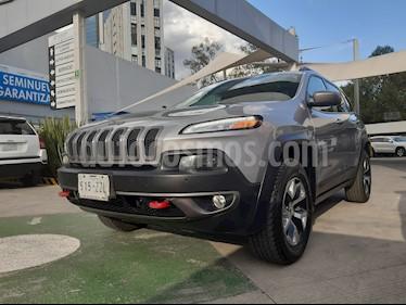 Foto venta Auto usado Jeep Cherokee TrailHawk (2015) color Plata Martillado precio $340,000