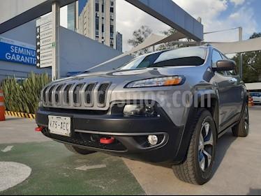 Foto venta Auto usado Jeep Cherokee TrailHawk (2015) color Plata Martillado precio $350,000