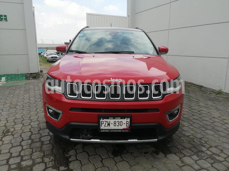 Jeep Compass Limited Premium usado (2018) color Rojo precio $360,000