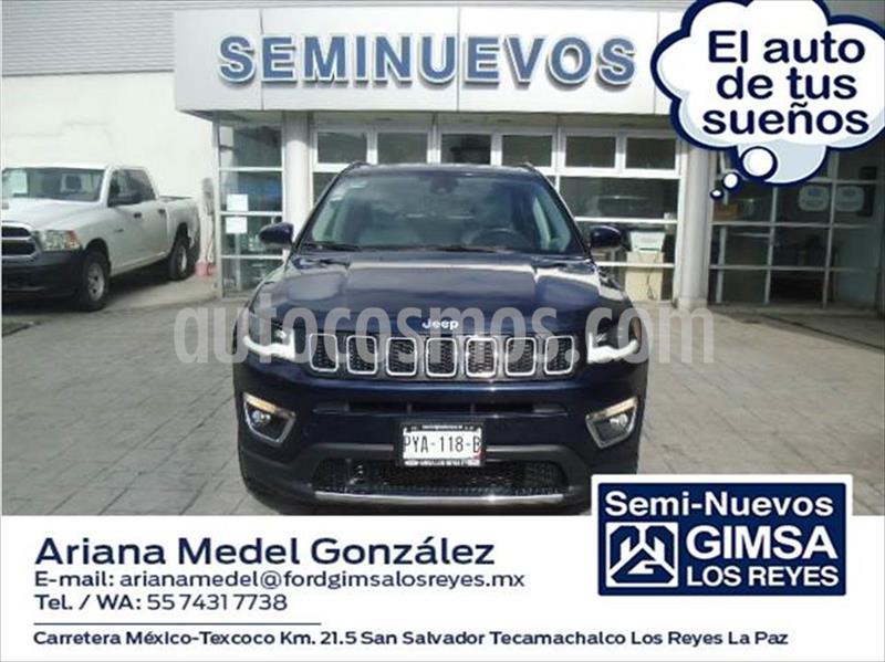 Jeep Compass LIMITED PREMIUM 4X2 ATX6 2.4L usado (2018) color Azul Marino precio $390,000