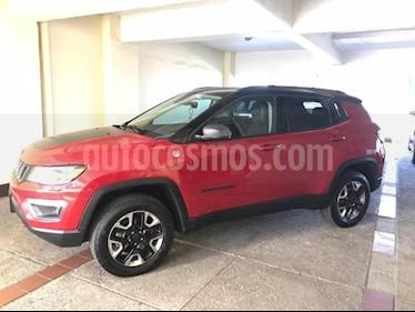 Jeep Compass 5P TRAILHAWK TA A/AC. AUT. PIEL QCP GPS RA-17 4X4 usado (2018) color Rojo precio $498,000