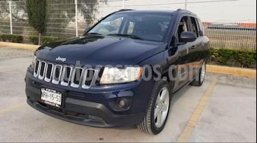 Jeep Compass 5P LIMITED PREMIUM CVT A/AC. AUT. PIEL QC GPS RA- usado (2013) color Azul precio $185,000