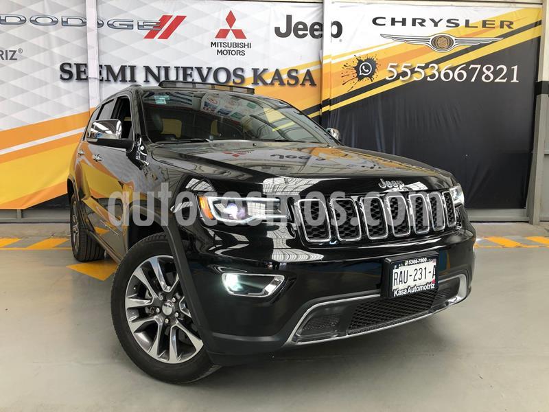 Jeep Grand Cherokee Limited Lujo 5.7L 4x4 usado (2018) color Negro precio $650,000
