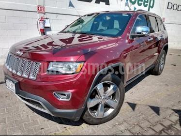 Jeep Grand Cherokee 5P LIMITED LUJO V6 3.6L TA PIEL QC GPS BI-XENON R usado (2016) color Rojo precio $590,000