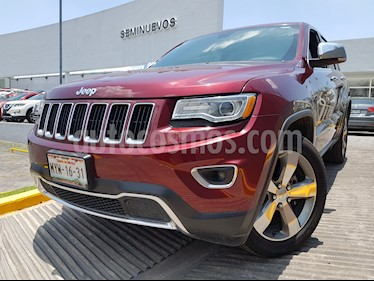 Jeep Grand Cherokee Limited 3.6L 4x2 usado (2016) color Rojo Cerezo precio $390,000