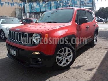 Jeep Renegade 5P SPORT TA A/AC. RA-17 usado (2018) color Rojo precio $360,000