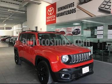 Jeep Renegade 5P LATITUDE TA BA A/AC AUT. PIEL VE RA-18 usado (2017) color Rojo precio $295,000