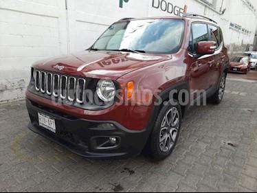 Jeep Renegade 5P LATITUDE TA BA A/AC AUT. PIEL VE RA-18 usado (2017) color Rojo precio $280,000