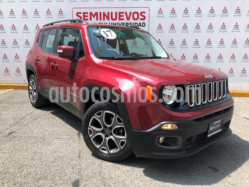 Jeep Renegade 4x2 Latitude Aut usado (2017) color Rojo Cerezo precio $285,000