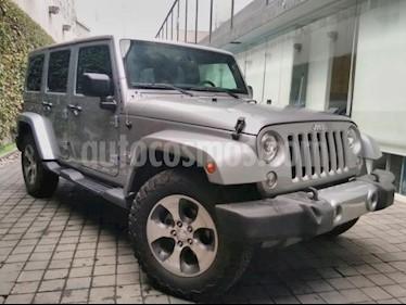 Foto venta Auto usado Jeep Wrangler 5p Unlimited Sahara V6/3.6 Aut (2018) color Gris precio $660,000