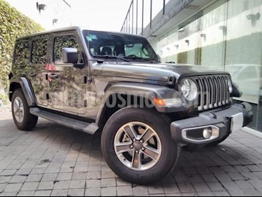Foto venta Auto usado Jeep Wrangler 5p Unlimited Sahara V6/3.6 Aut (2018) color Gris precio $840,000