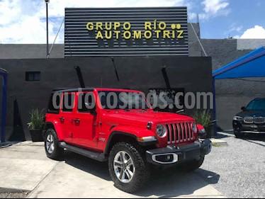 Jeep Wrangler Unlimited Sahara 4x4 3.6L Aut usado (2018) color Rojo precio $720,000