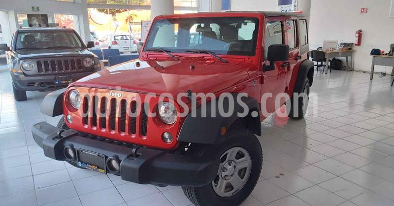 Jeep Wrangler 5p Unlimited Sport V6/3.6 Aut usado (2018) color Rojo precio $429,900