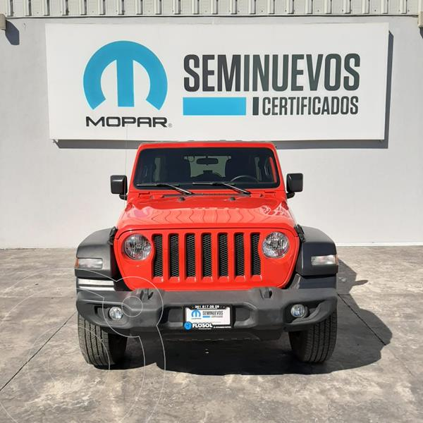 Jeep Wrangler Unlimited Sport S 4x4 3.6L Aut usado (2019) color Rojo precio $770,000