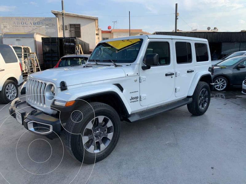 Foto Jeep Wrangler Sahara 4x4 3.6L Aut usado (2019) color Blanco precio $925,800