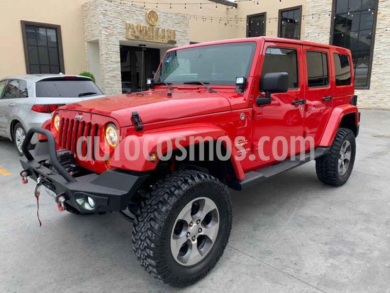 Jeep Wrangler Unlimited Sahara 4x4 3.8L Aut usado (2011) color Rojo precio $479,800