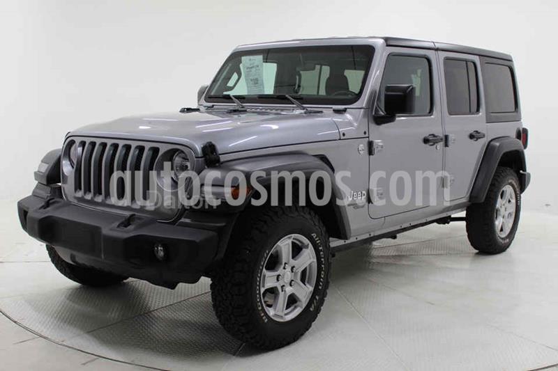 Jeep Wrangler Unlimited Sport 4x4 3.6L Aut usado (2019) color Plata precio $635,000
