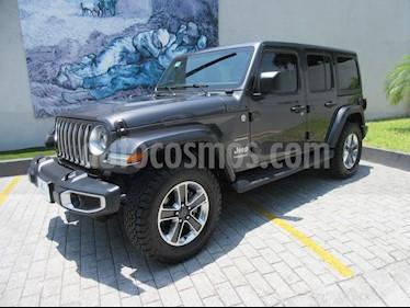 Jeep Wrangler Unlimited Sahara 4x4 3.6L Aut usado (2018) color Gris precio $735,000