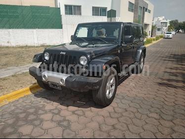 Jeep Wrangler Unlimited Sahara 4x4 3.6L Aut usado (2015) color Negro precio $425,000